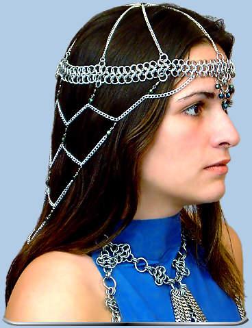 Amira Headdress Amira Chainmaille Headdress Renaissance