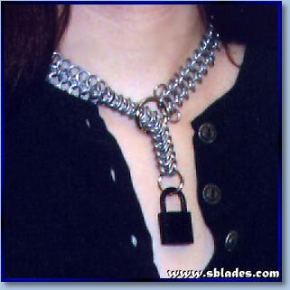 Lock Et Chain Mail Collar Unique Chainmaille Locking Bdsm