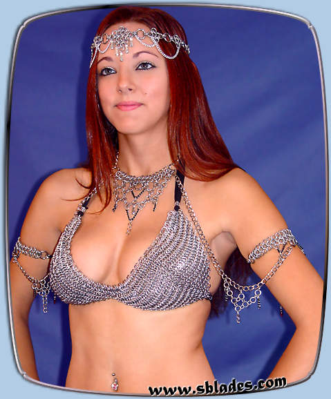 ShadowPoint body chains w/Chainmail bikini & crystal coronet
