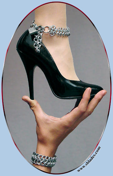 Locking BDSM Chain Maille anklet, Unique lockable ankle