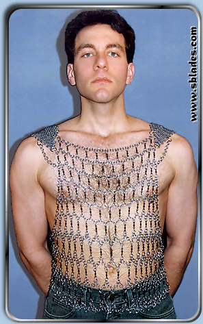 Chainmail More Gladiator Tank costume Chainmail shirt mens fashion
