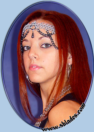 Raven chainmaille headpiece, Gothic chain-mail jewelry ...