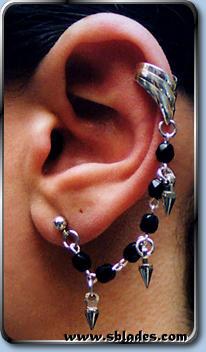 Spike Earcuff Earring Gothic Halloween Ear Rings For