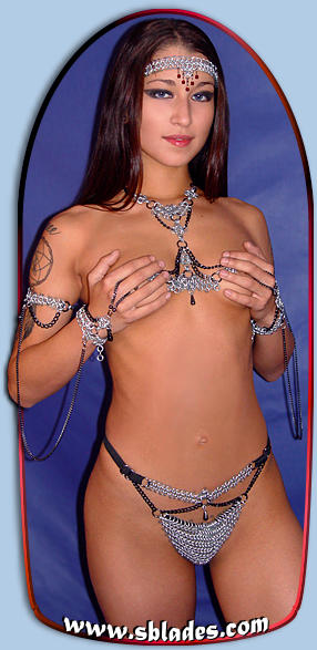 Raven chain mail metal g-string