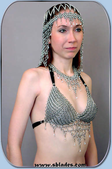 Crystalweave Chainmaille Bikini Top Chain Mail Halter Top
